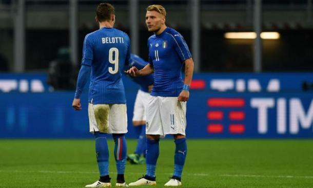 Belotti con Immobile in Nazionale. Fonte: http://cdn.calciomercato.com