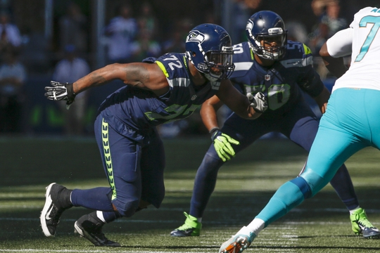 Michael Bennett and the Seattle Seahawks will look to stop the Detroit Lions.   Photo: Joe Nicholson-USA TODAY Sports