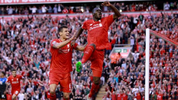 Benteke scored in his second league game against Bournemouth (photo: Getty Images)