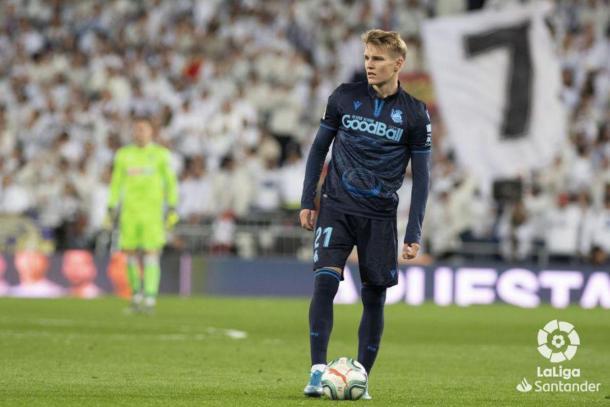 Martin Odegaard en el Bernabéu | Foto: LaLiga Santander