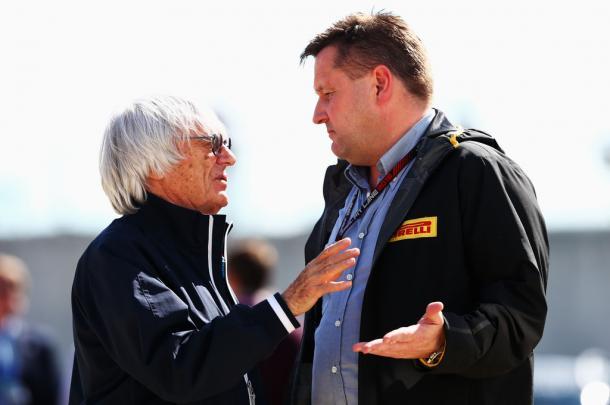 Bernie Ecclestone y Paul Hembery - Getty Images
