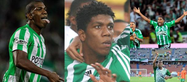 Cuatro momentos de la carrera de Orlando Berrío en Nacional: Su debut en 2009, El campeonato del 2011, Su regreso en 2013 y el gol a River Plate en el año 2014
