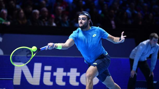 Berrettini ends 2019 on a high after starting 2019 outside the Top 50/Photo: Peter Staples