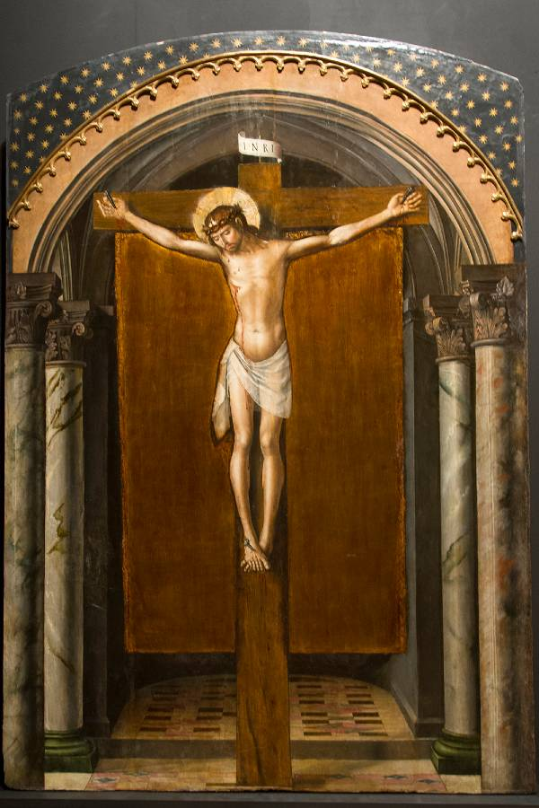 Cristo en la cruz, Pedro Berruguete (1493-1498). Diputación de Segovia.