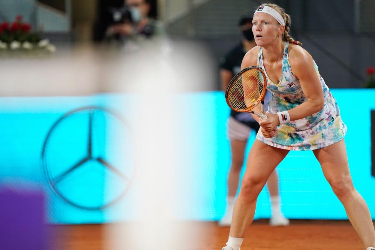 Bertens venceu uma partida em torneio WTA pela primeira vez em 2021 (Foto: Divulgação/Mutua Madrid Open)