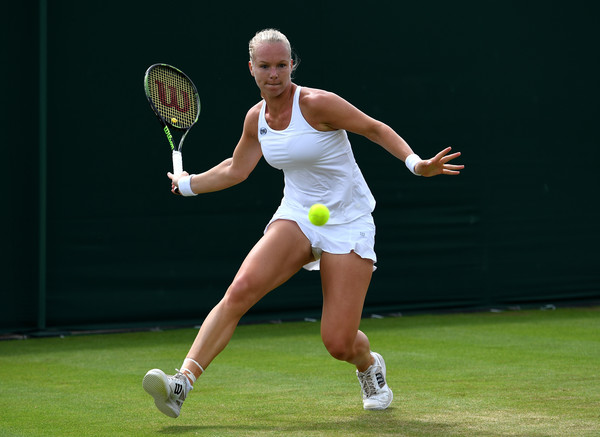 Kiki Bertens in action against Mona Barthel (Photo by Shaun Botterill / Source : Getty Images)