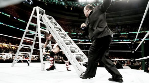 Paul Heyman turning on CM Punk. Photo: Wrestlenewz