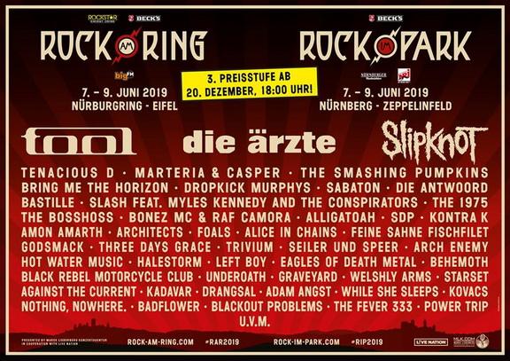 Cartel oficial del Rock Am Ring 2019 | Foto: www.rock-am-ring.com