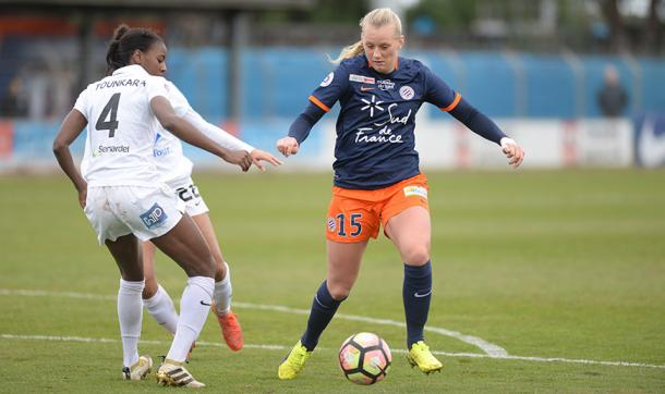 Stina Blackstenius is one of Montpellier's leading players | Source: mhscfoot.com