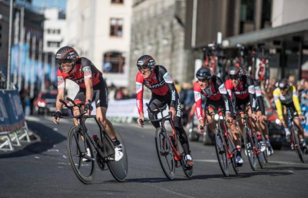 BMC Racing Team se quedó a ocho segundos del que hubiera sido su tercer oro | Foto: Chris Auld