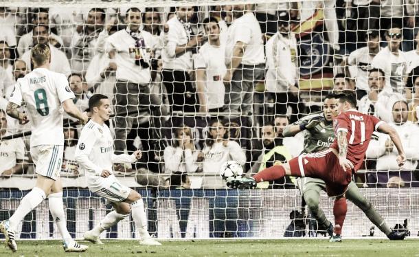James desperdicia una increíble oportunidad. Imagen: Real Madrid