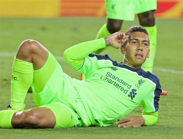 Firmino celebrates his goal against AC Milan (photo: Getty Images)