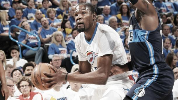 Durant scored 23 for Oklahoma City in the blowout win   Photo: NBA via Getty Images