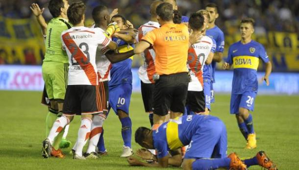 Incidentes en el Superclasico River vs. Boca en Mar del Plata. Imagen Web.