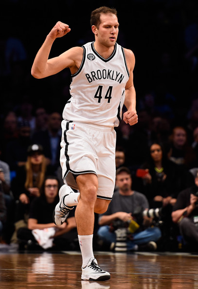 Forward Bojan Bogdanovic in a Nets game. Photo by Alex Goodlett/Getty Images.