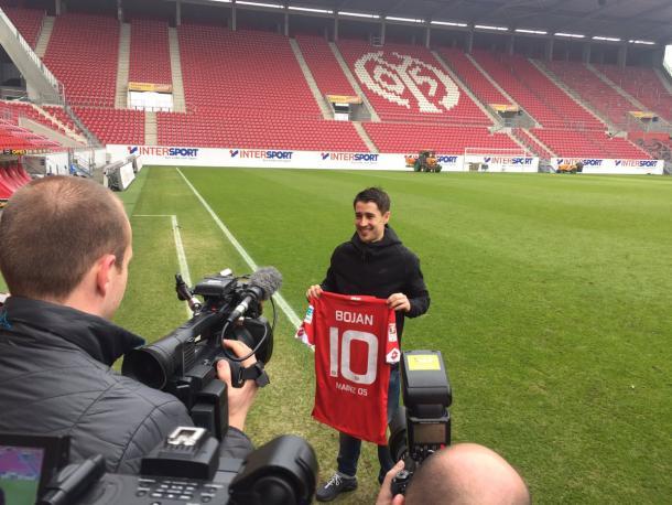 Bojan was unveiled as a Mainz player two days ago | Photo: @Mainz05en