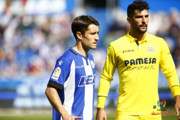 Bojan en un partido frente al Villarreal. / Foto: La Liga