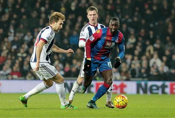 Bolasie, introduced at half-time, was one of two Palace players to have penalty appeals waved away (Photo: Getty images)