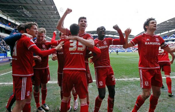 Jordan Rhodes' late double earned an emotional win at Bolton | Photo: Middlesbrough FC