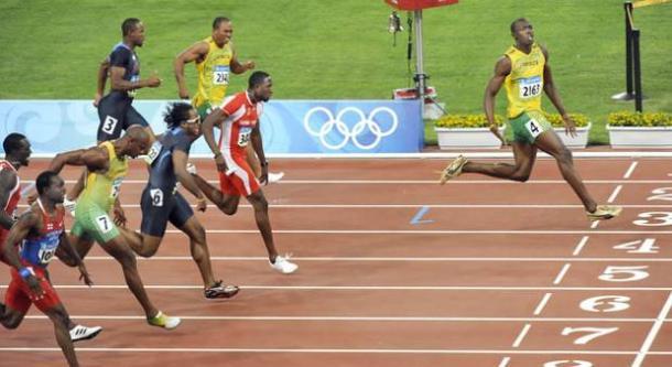 Bolt já comemorava a