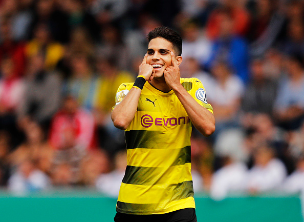 Marc Batra abriu a contagem para o Dortmund (Foto: Bongarts/Adam Pretty)