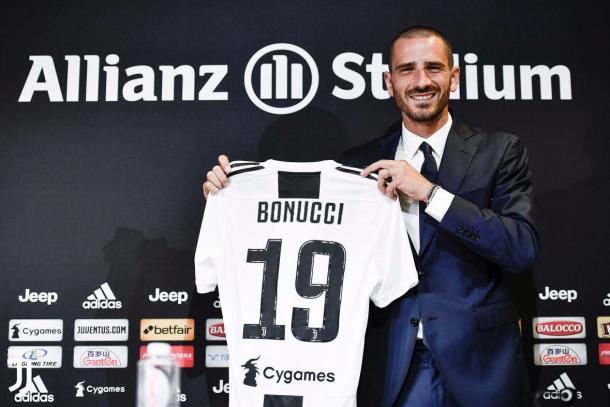 Bonucci retornou à Juventus após uma temporada no Milan. (Foto: Divulgação/Juventus)
