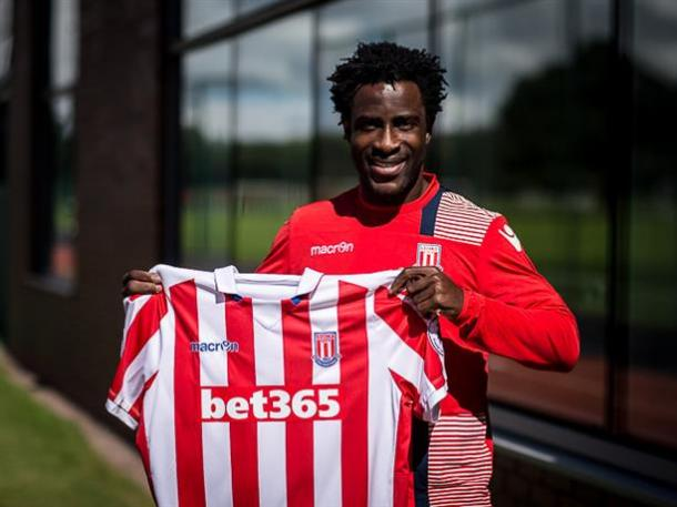 Wilfried Bony has joined Stoke City on a season-long loan deal from Manchester City. | Photo: Stoke City