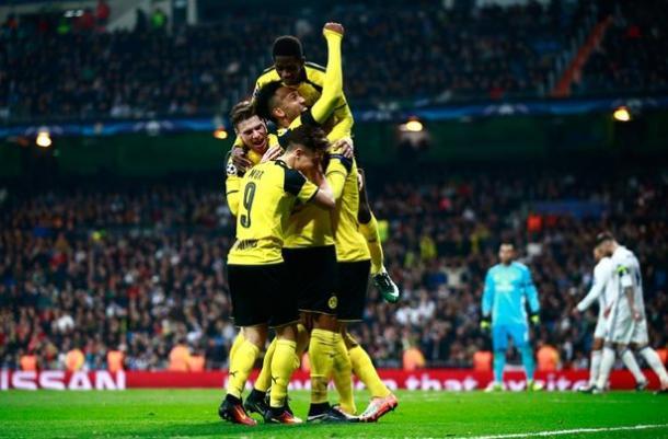 Il 2-2 del Bernabeu qualifica il Borussia come prima, www.mirror.co.uk