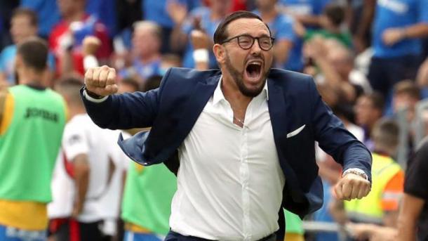 José Bordalás celebrando un gol de su equipo | Fuente: Getafe