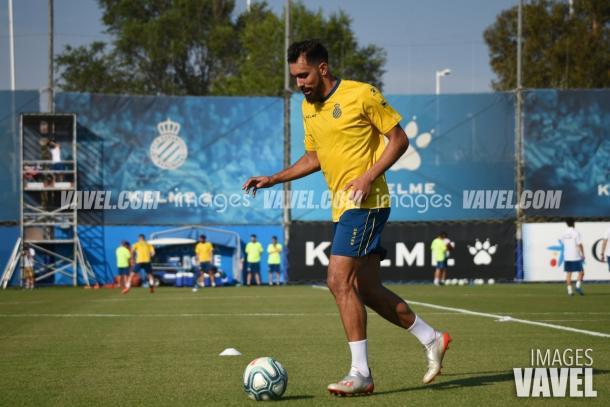 Borja Iglesias entrenó con total normalidad   Foto: VAVEL