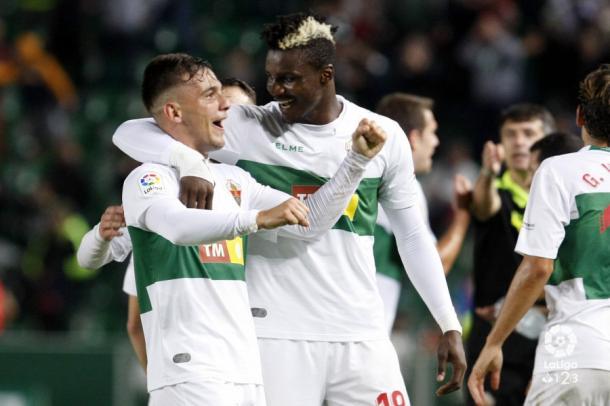 Borja y Sory frente al Málaga | Fuente: La Liga