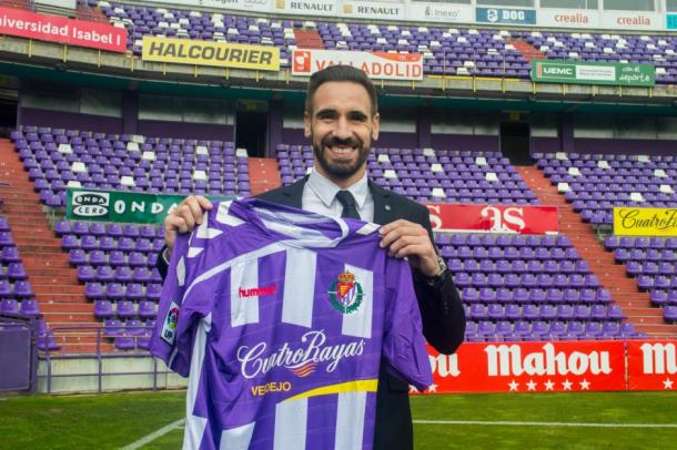 El gallego en su vuelta al Real Valladolid. Imagen: Real Valladolid