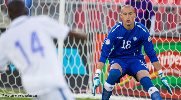 Canadian keeper Milan Borjan was called to make some critical saves. | Source: Canada Soccer