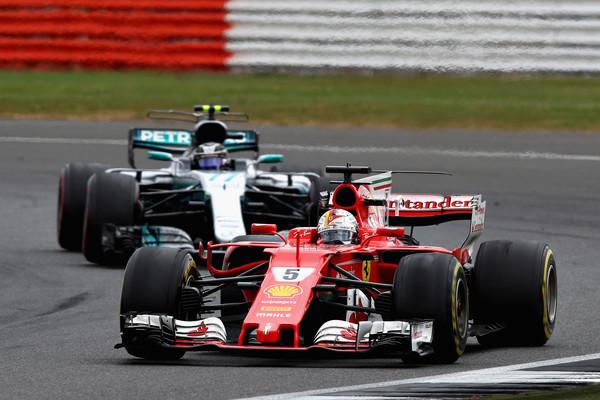 Bottas vs Vettel, Silverstone 2017 / Zimbio