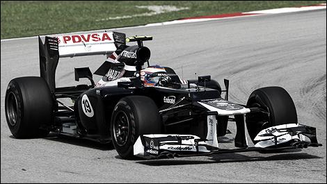 Bottas en su año de debut con el equipo Williams