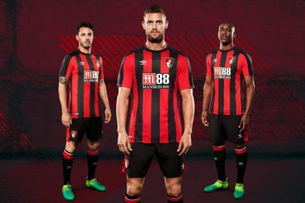Los nuevos kits de los Cherries | Foto: AFC Bournemouth