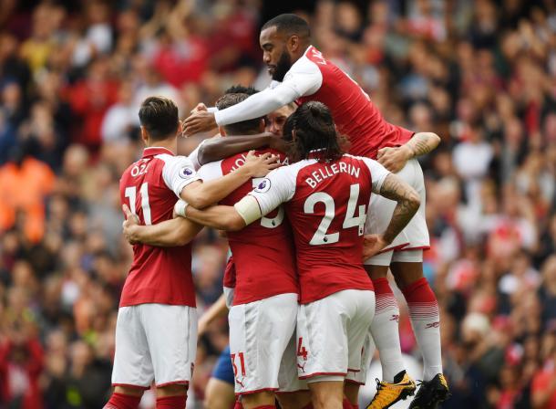 Los jugadores del Arsenal celebran uno de los goles ante el Bournemouth | Fotografía: Arsenal