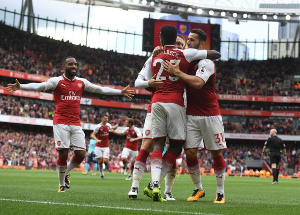 Los jugadores del Arsenal celebran uno de los goles ante el Bournemouth   Fotografía: Arsenal