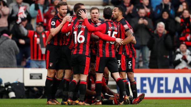 El Bournemouth celebra uno de los goles frente al Arsenal | Fotografía: Premier League