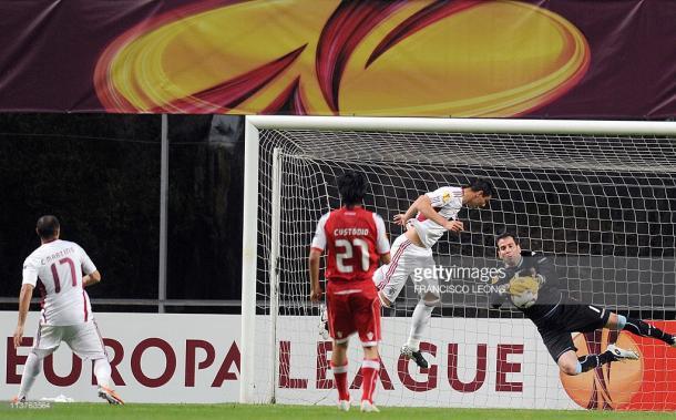 Duelo entre Braga y Benfica en las semifinales de la UEFA Europa League de 2011 / Foto: gettyimages