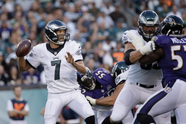 Sam Bradford in action against the Baltimore Ravens. (Source: AP Photo/Michael Perez)