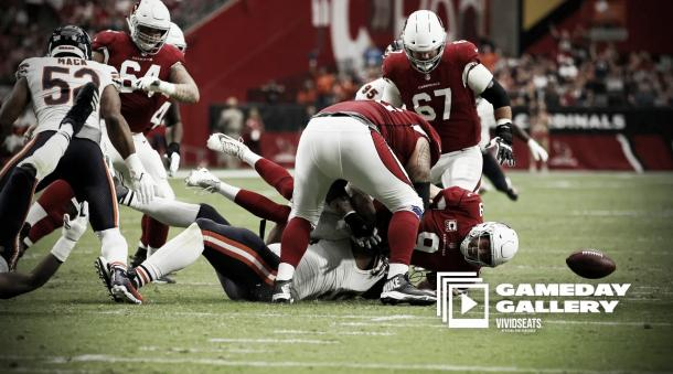 La defensa de los Bears liderada por Mack definió el encuentro | Foto: AzCardinals.com