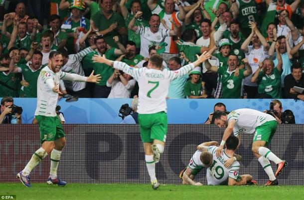 Brady's goal sent Ireland into jubilation (photo: EPA)
