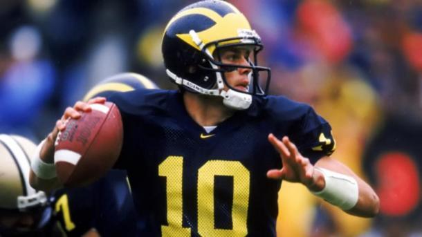 Tom Brady em ação pelo Michigan Wolverines | Foto: Getty Images