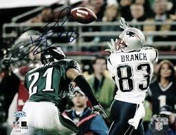 Deion Branch recibio un pase en el Super Bowl frente a los Eagles (foto Patriots)