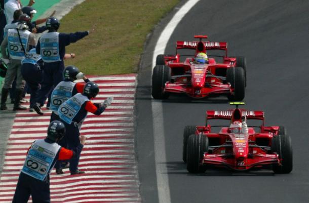 Raikkonen e Massa a San Paolo