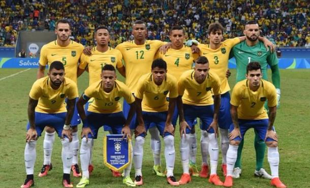 Brazil team before their match - Colombia. | Image credit: Getty Images