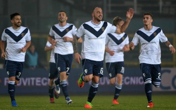Esulta il Brescia dopo la vittoria sul Cittadella - Foto Sky Sport