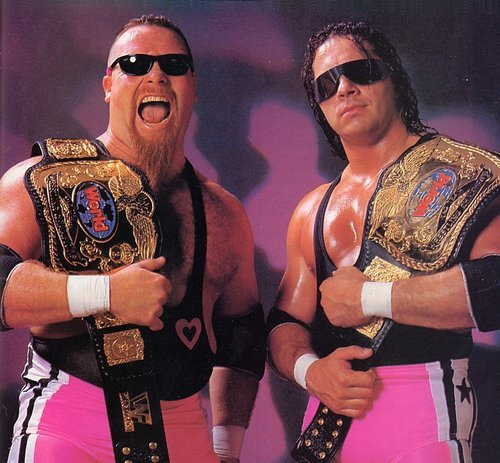 Hart in his legendary Hart Foundation days (image: WWE)