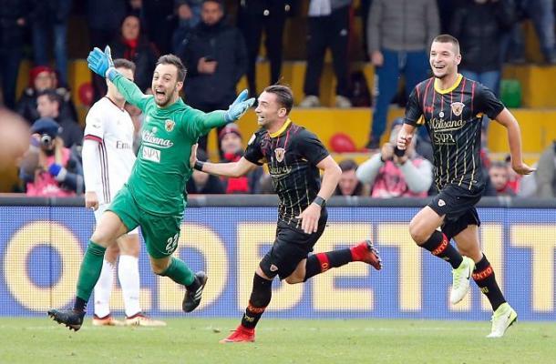 Brignoli celebra su gol ante el Milan | Foto: Getty Images